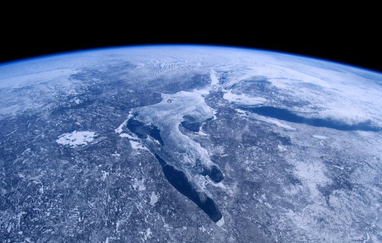 View of the Earth from A Beautiful Planet 3D IMAX film