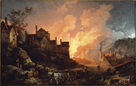 Coalbrookdale by Night by Philippe-Jacques de Loutherbourg,
