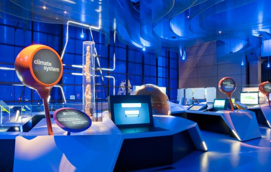 View of the Atmosphere gallery at the Science Museum