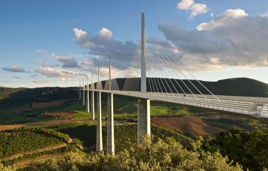 View of the Millau Bridge, France, from Dream Big 3D IMAX film