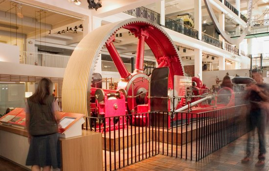 The big red engine in the Science Museum in London