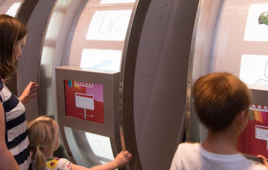 A family play in Energy: Fuelling the Future at the Science Museum