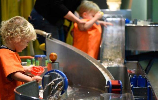 Children play in The Garden gallery