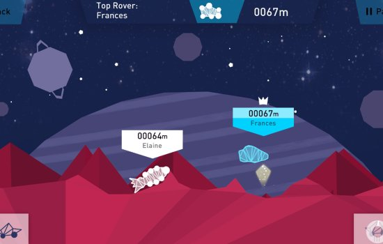Screenshot of Rugged Rovers game