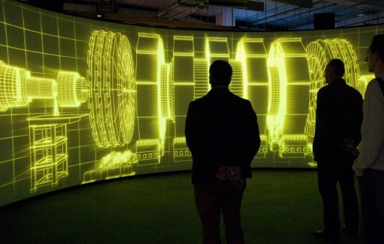 Visitors at Collider exhibition
