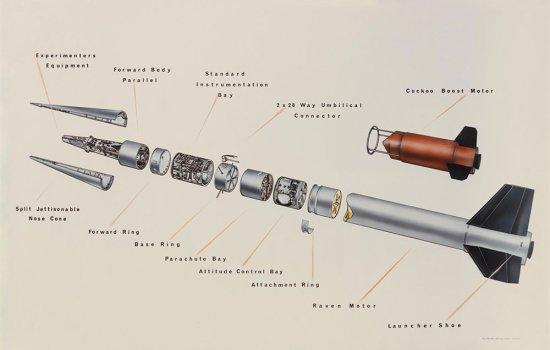 Skylark Mark II space rocket diagram