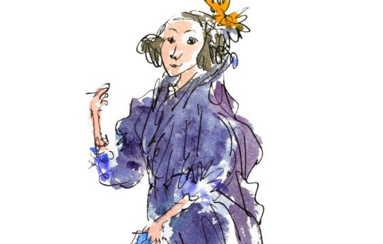 A colour illustration of mathematician Ada Lovelace by Quentin Blake