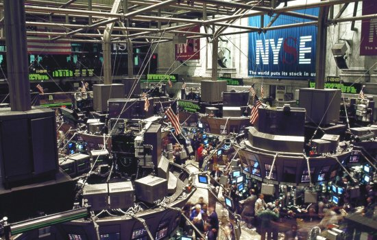 Trading floor of the New York Stock Exchange on Wall Street