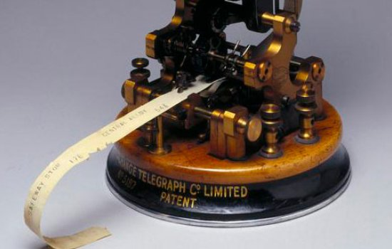 Receiver printer, or stock ticker, for Stock Exchange printing telegraph, 1907