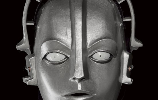 Head of 2016 replica 'Maria' robot from Fritz Lang's film Metropolis, built by prop-makers Kropserkel Inc, Toronto