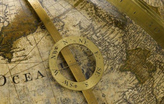 Terrestrial globe from 1766