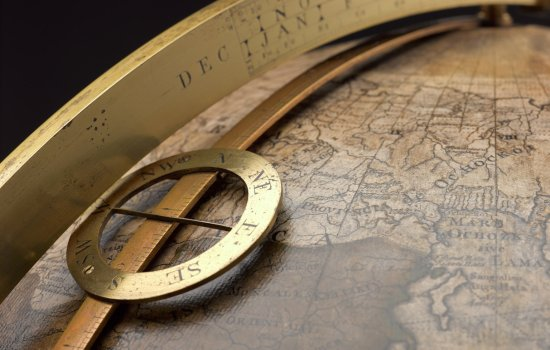 Detail of a seventeenth century globe