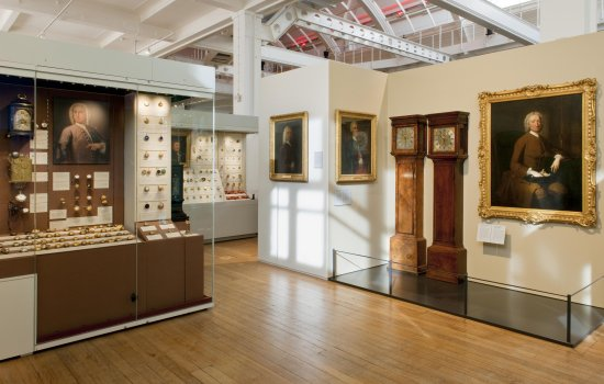 Clockmakers' museum gallery at the Science Museum