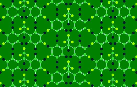Green DDT Molecule pattern