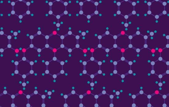 Mauveine molecule pattern