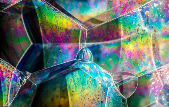 Soap bubble structures © Kym Cox