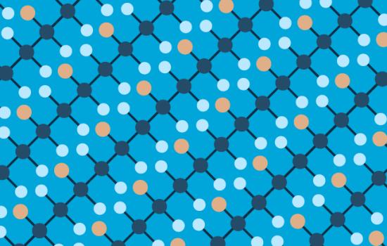 Blue pattern based on PVC molecule