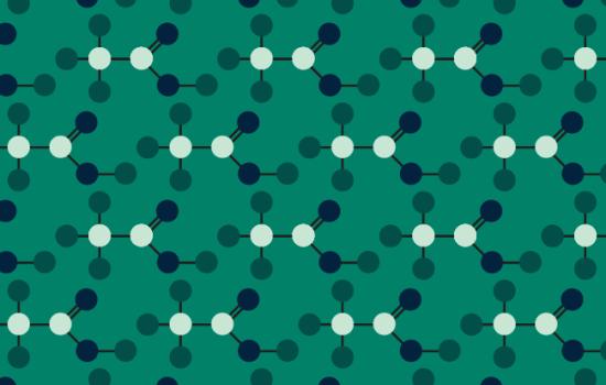 Green pattern based on acetic acid molecule