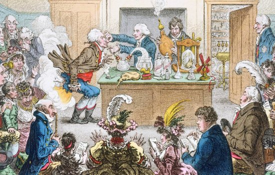 Detail from a Gillray Print