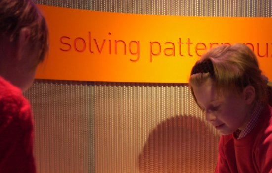 Children in Pattern Pod at the Science Museum