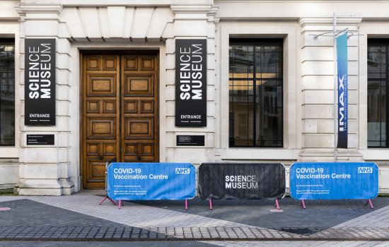 The Science Museum reopens as an NHS vaccination centre