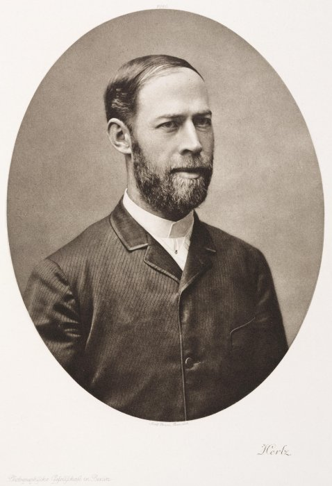 Photogravure portrait of Heinrich Hertz