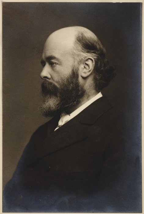 Portrait photograph of Sir Oliver Lodge, 1894