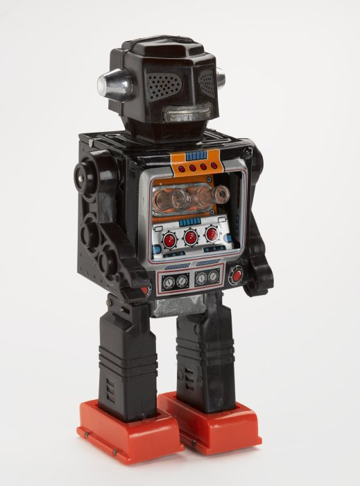 Mr Zerox robot with packaging, 1970s, Horikawa, Japan.