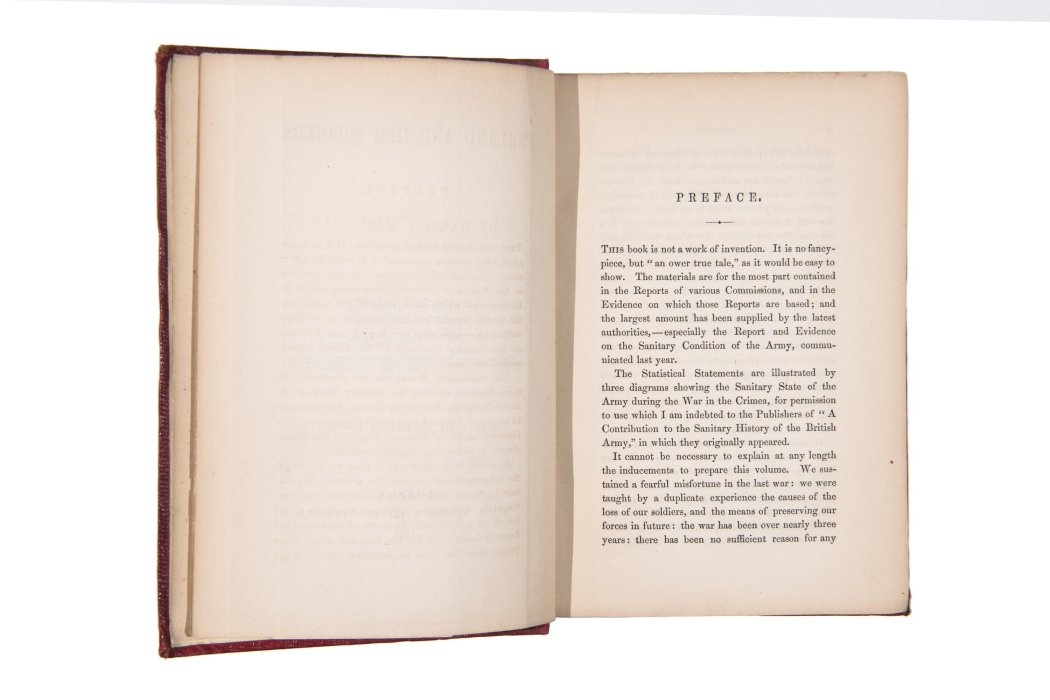 England and her Soldiers by Harriet Martineau, open to preface