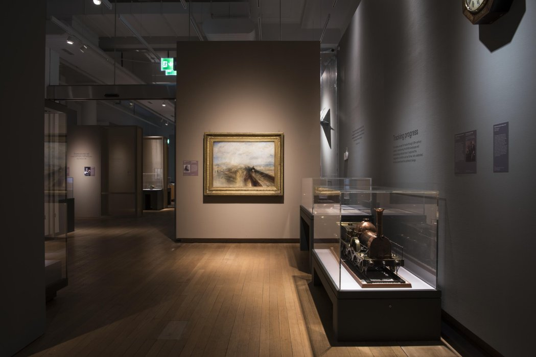 Troubled Horizons' section of The Art of Innovation exhibition featuring Turner's 'Rain, Steam, and Speed