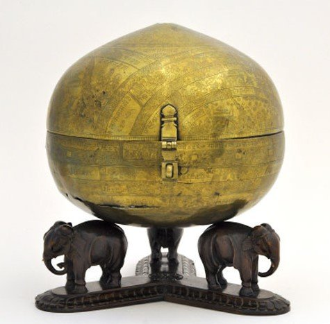 Bhugola or Earth-Ball by Ksema Karna, India, 1571 from the Illuminating India exhbition