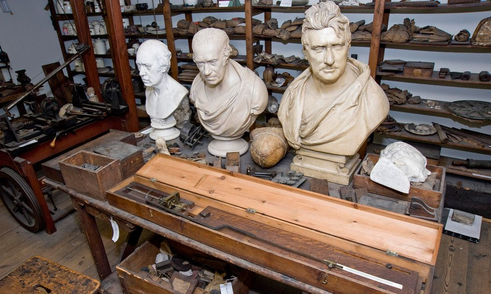A recreation of James Watt's workshop in the Energy Hall gallery