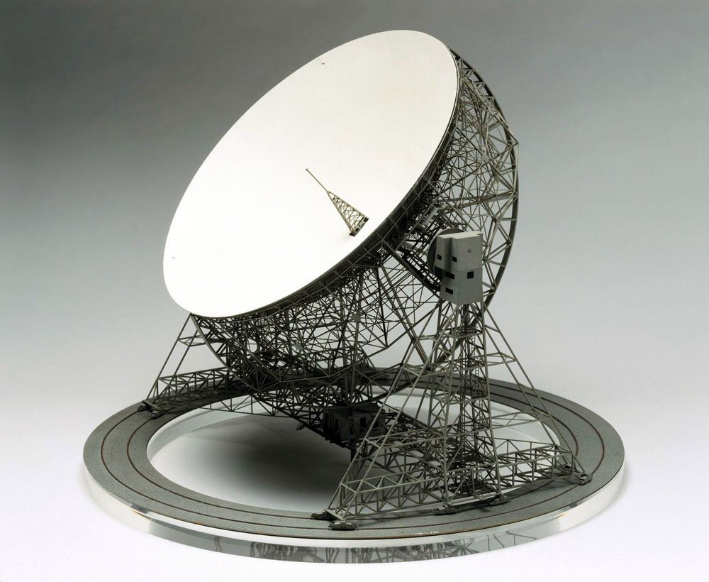 Model of the Lowell Radio Telescope at Jodrell Bank in Cheshire