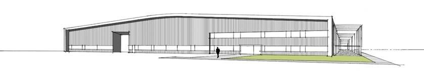 An architect's impression of the new collection facility at Wroughton
