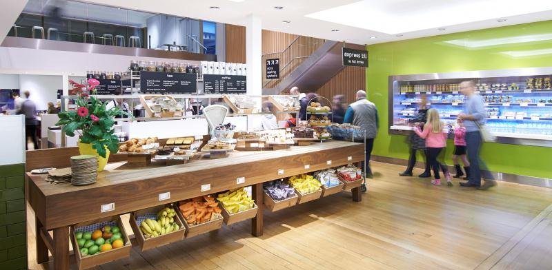 Food counters in the Energy Cafe