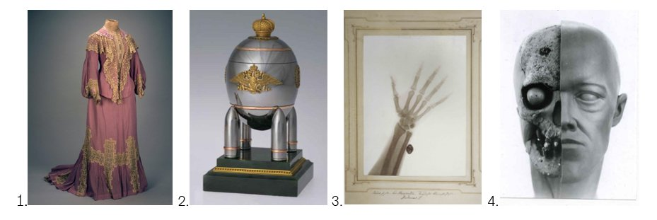 Four objects from the exhibition The Last Tsar: Blood and Revolution