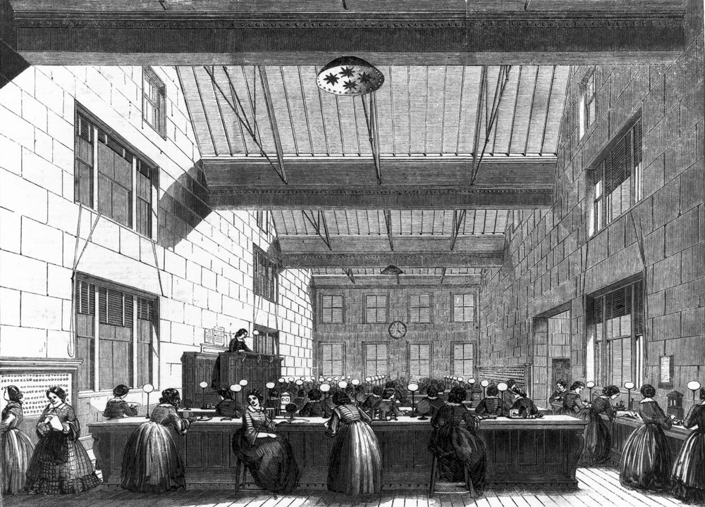 Electric and International Telegraph Company office, London, 1859