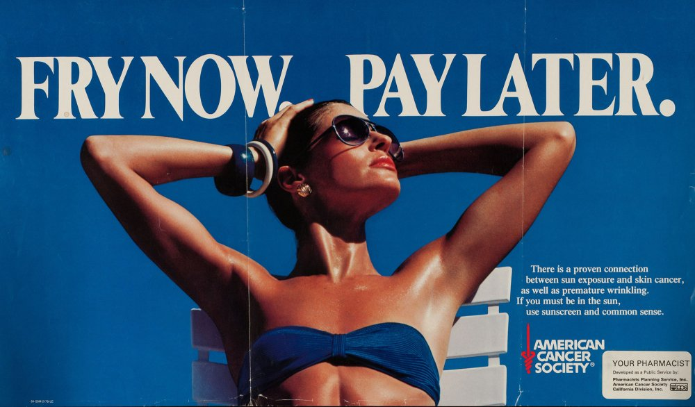 Skin Cancer Poster by the American Cancer Society