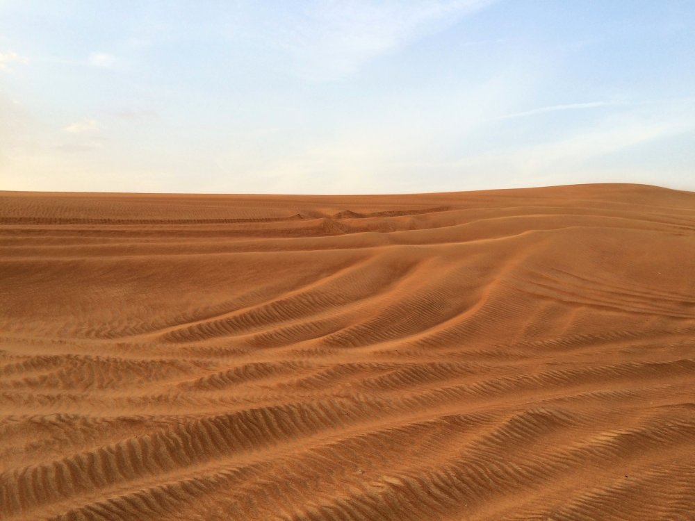 A photograph of the Arabian desert during daytime