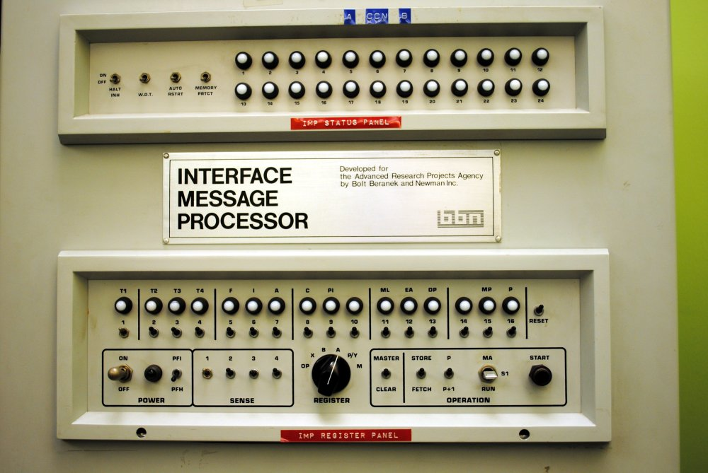 An Interface Message Processor panel used on the ARPA network