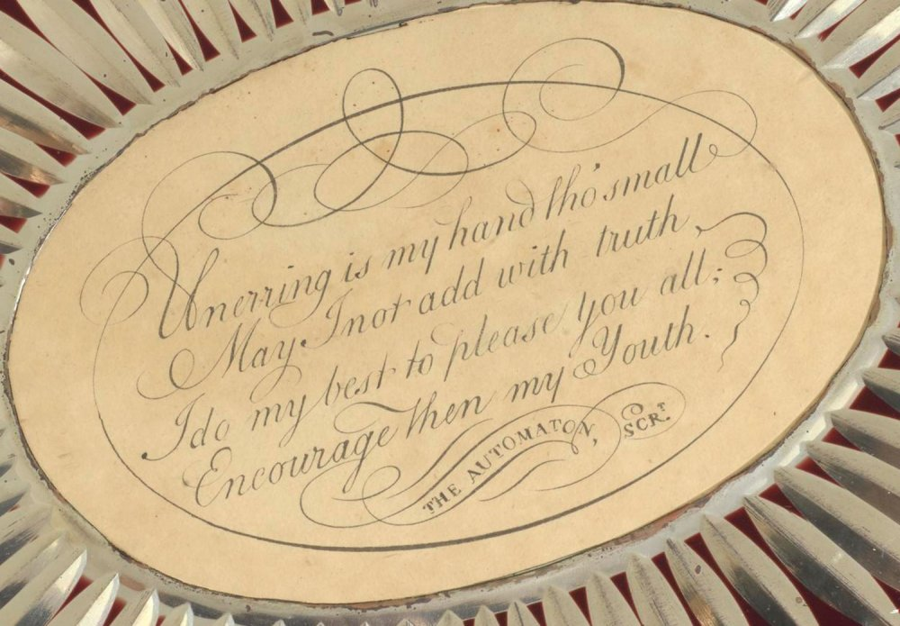 Engraved writing