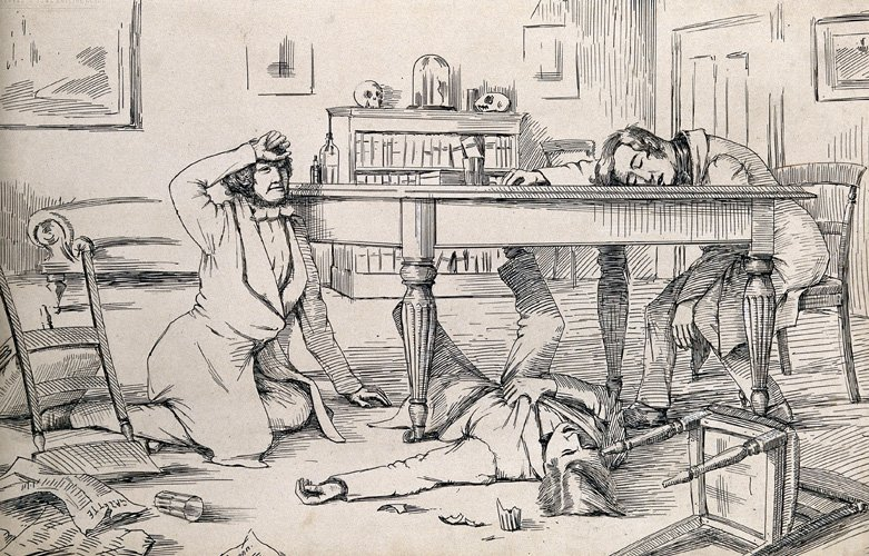 The effects of liquid chloroform of James Young Simpson and his friends, 1840s