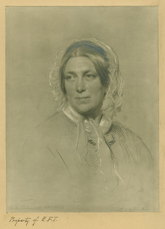 Sketch of British sociologist Harriet Martineau