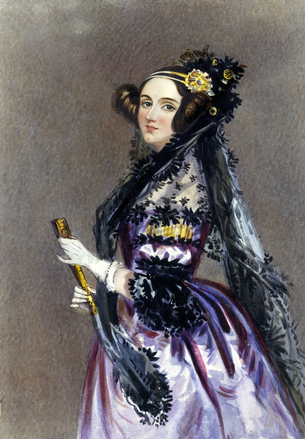 Ada Lovelace, Watercolour portrait by Alfred Edward Chalon