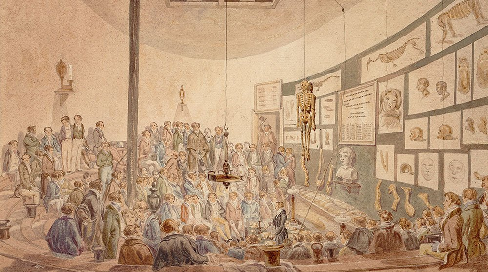 A class in the anatomy theatre at William Hunter's anatomy school, London