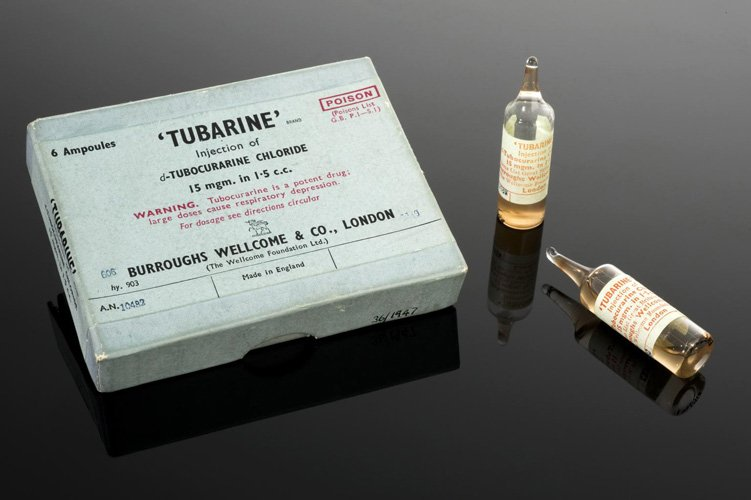 Packaging for tubarine muscle relaxant ampules