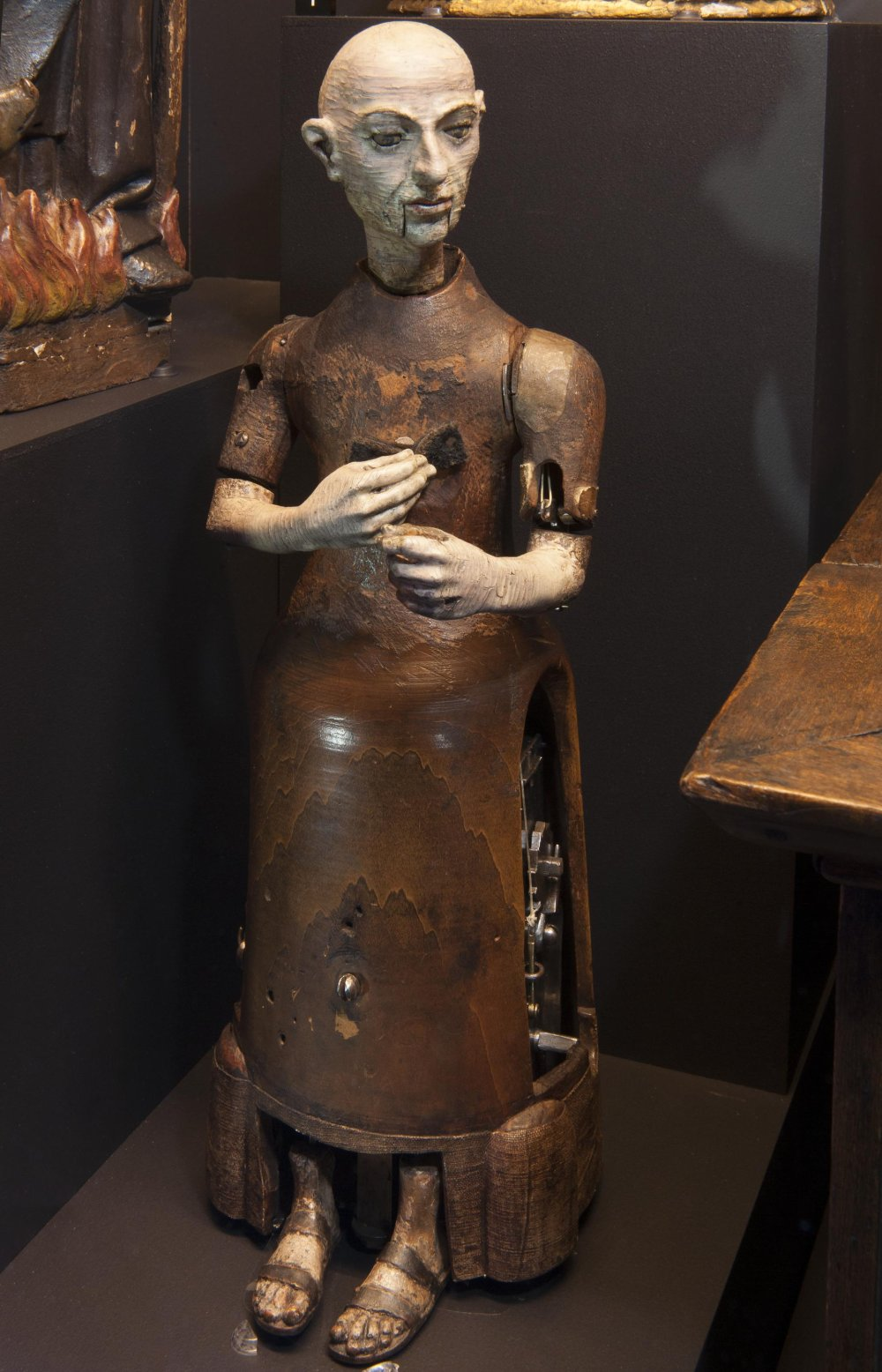 Automaton monk, attributed to Gianello Torriano, Toledo, Spain, c.1560