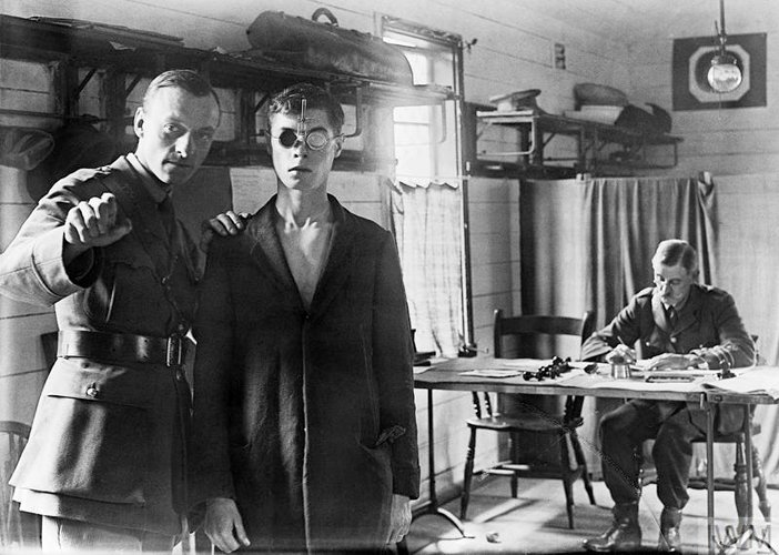 An army medical examination World War I