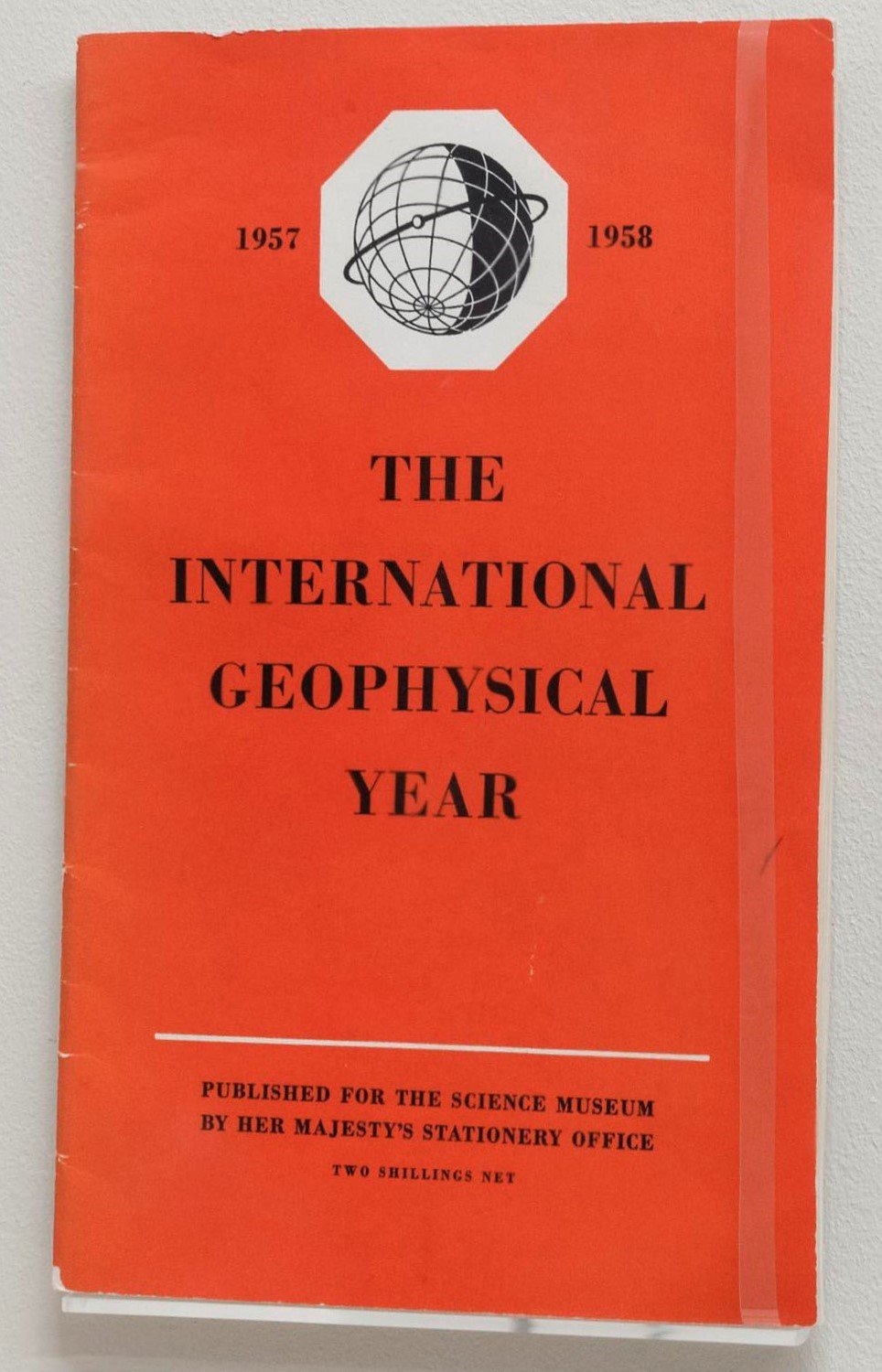 A photograph of the front of the International Geophysical Year booklet