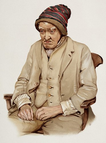 An 82 year old with dimentia, resident of a workhouse, 1890